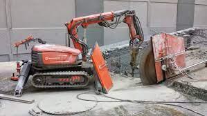 تخریب ساختمان با استفاده از ارّه